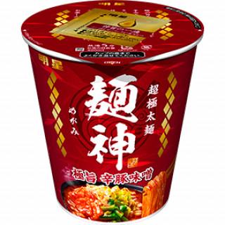 明星 麺神カップ 極旨辛豚味噌
