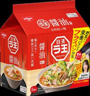 日清ラ王 醤油 5食パック フライパンラ王レシピパッケージ