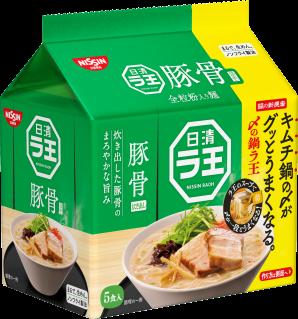 日清ラ王 豚骨 5食パック 鍋ラ王パッケージ