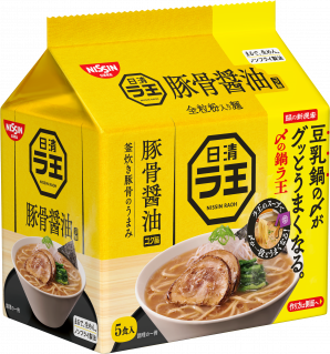 日清ラ王 豚骨醤油 5食パック 鍋ラ王パッケージ