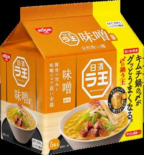 日清ラ王 味噌 5食パック 鍋ラ王パッケージ