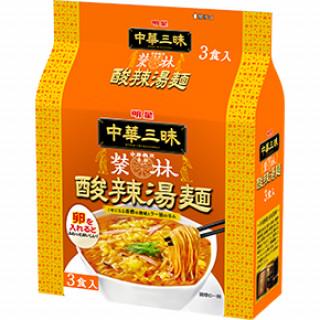 明星 中華三昧 赤坂榮林 酸辣湯麺 (スーラータンメン) 3食パック