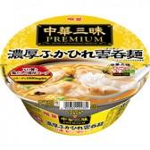 明星 中華三昧PREMIUM 濃厚ふかひれ雲呑麺 (ワンタンメン)
