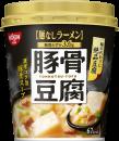 日清麺なしラーメン 豚骨豆腐スープ