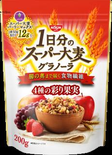 1日分のスーパー大麦グラノーラ 4種の彩り果実