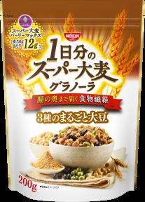 1日分のスーパー大麦グラノーラ 3種のまるごと大豆
