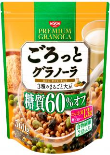 ごろっとグラノーラ 3種のまるごと大豆 糖質60%オフ 360g