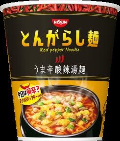 日清のとんがらし麺 うま辛酸辣湯麺
